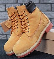 9378b4e06524 Мужские Зимние ботинки Timberland 6 inch Yellow С МЕХОМ, ботинки  Тимберленд, реплика