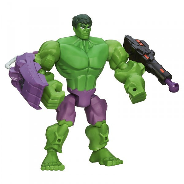 Разборная фигурка супергероя Халк с оружием - Hulk Firing Smash Missile, Mashers, Marvel, Hasbro
