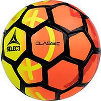 Детский футбольный мяч SELECT Classic желто-оранжевый, размер 5