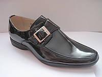 Туфли праздничные лаковые для мальчиков размер 35