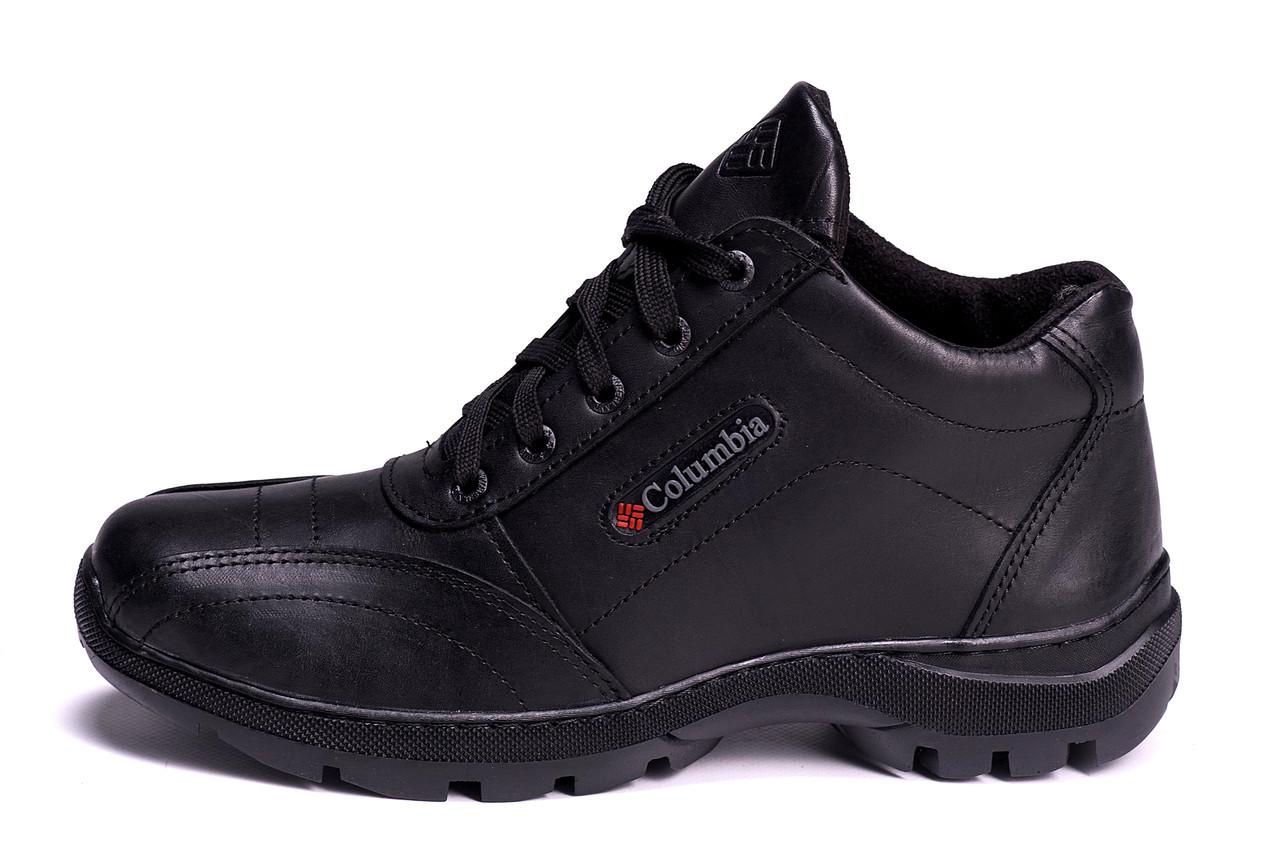 7aa38367d324 Мужские зимние кожаные ботинки Columbia ZK Antishok Winter Shoes (реплика)