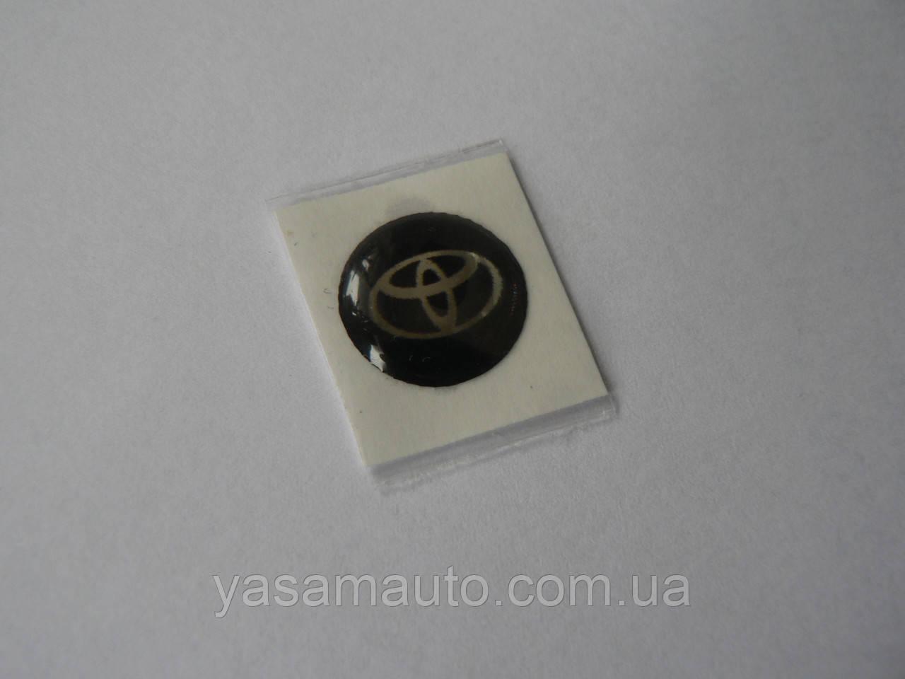 Наклейка s круглая Toyota 15мм силиконовая эмблема в круге на авто ключи сигнализацию Тойота