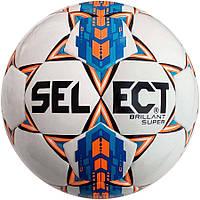 Мяч футбольный SELECT Brillant Super бело-синий, размер 5