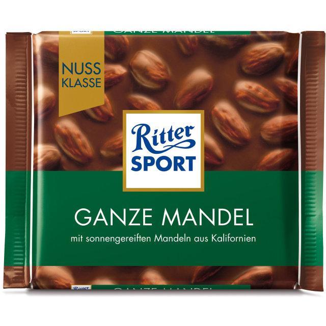 Ritter Sport с Миндалем в молочном шоколаде
