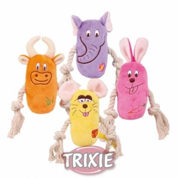 Trixie TX - 3618 іграшка для собак з канатом і пискавкою 1 шт 13 см