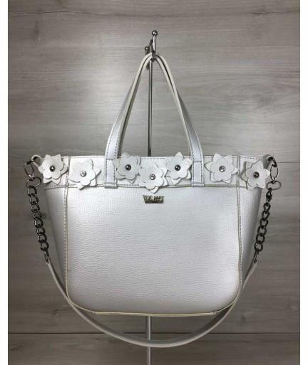 fedd7c689c02 Женская сумка WeLassie Дарина серебряного цвета (никель): продажа ...
