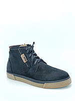 Ботинки мужские зимние, натуральный нубук, с мехом.