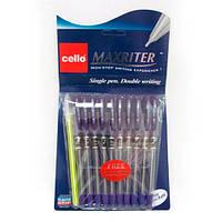 """727 Ручка масл """"CL"""" Maxriter (фиолет) NEW + 1 ручк. (Синий блист.)"""
