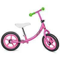 Беговел PROFI KIDS детский 12 д. M 3437-2 (1шт)колеса EVA,пласт.обод,набор наклеек на раму,розовый
