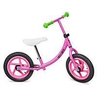 Беговел PROFI KIDS детский 12 д. M 3437A-2 (1шт) колеса резина,пласт.обод,набор наклеек на раму,роз