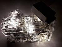 Светодиодная Гирлянда Multi Function, сетка, белая, 200 led (прозрачный провод)