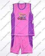Гр а.22.b.0743.р.60 /светло фиолетовый/ м.К-т тениска комб. с бриджами