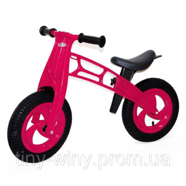 """Велобег 12"""", с надувн. шинами МАЛИНОВЫЙ (Cross bike) 11-018 Киндервей"""