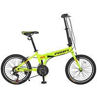 """Велосипед 20 д. G20RIDE A20.2 (1шт)алюм.рама 12"""",складн.,Shimano 18SP,алюм.VB,двойн.обод,зеленый"""