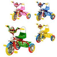 Велосипед B 2-1 / 6010 (4шт) разнцветн кол.EVA3шт,муз,свет,на бат-ке,в кор-ке (4шт-разоб),58-47-37см