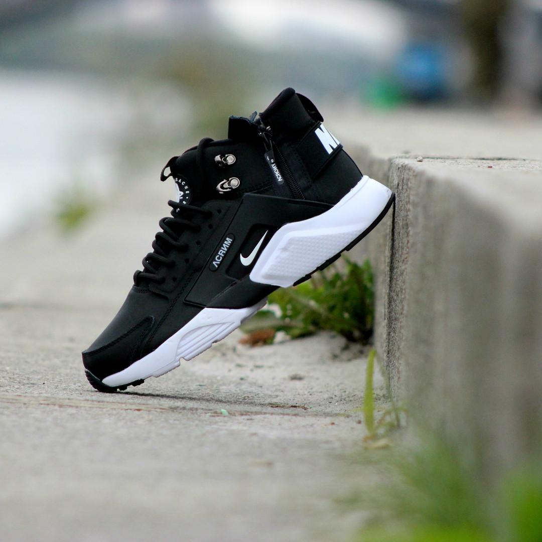 cbebf8c8 Мужские Кроссовки Nike Huarache Winter Black\White 2017 43 — в ...