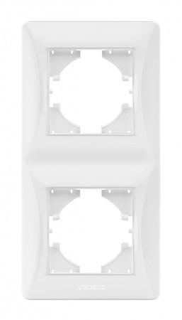 VIDEX BINERA Рамка белая 2 поста вертикальная (VF-BNFR2V-W) (12/96)