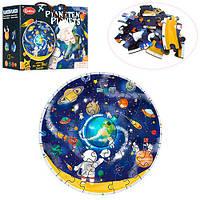 Деревянная игрушка Пазлы TNWX-6119 (12шт) планеты, 48дет, в кор-ке, 27-20-10см