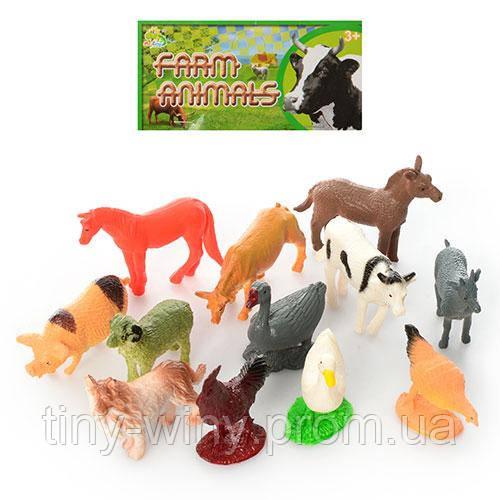Животные NC2-012 (288шт) домашние, 4см, 12шт в кульке, 14-15-3см