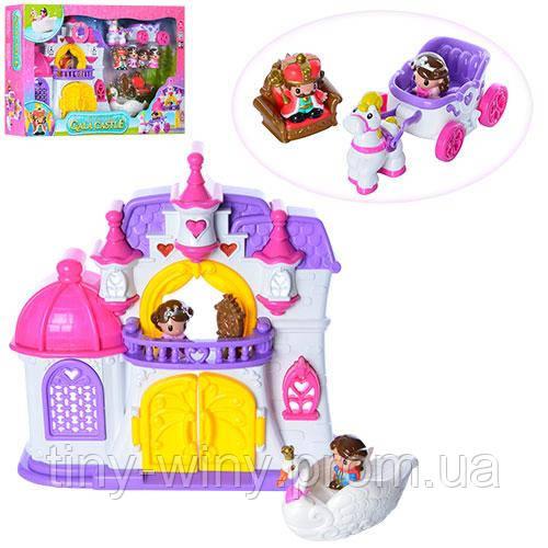 Замок 32903 (3шт) принцессы,35-35-8см,муз,свет,карета,мебель,фигурки,на бат,в кор-ке,62,5-39-11см