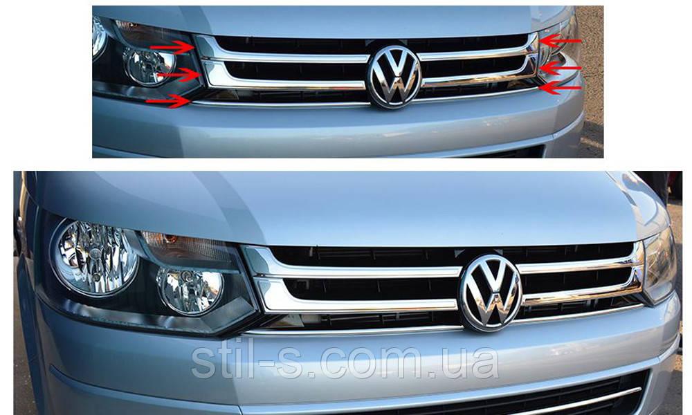 Накладка на решетку радиатора VW Т6 (2015 >)