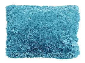 Наволочка с длинным ворсом голубая (50х70)