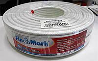 Кабель FinMark RG6 white 100 м белый