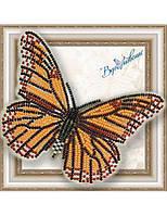 """001-BGP Набор для вышивки бисером на прозрачной основе """"Бабочка Данаида Монарх"""""""