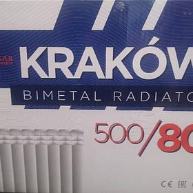 Радиатор биметаллический для отопления 80х500 { KRAKOW~Польша}