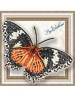 """005-BGP Набор для вышивки бисером на прозрачной основе """"Бабочка Цетозия Библс"""""""