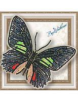 """006-BGP Набор для вышивки бисером на прозрачной основе """"Бабочка Parides sesostris zestos"""""""
