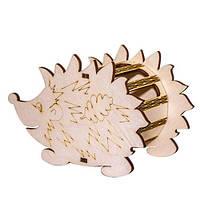 """Карандашница """"Ёжик с грибочком и листочком"""", 90х140х70 мм, 3 детали, 80200"""