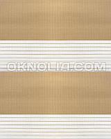 Тканевая ролета День Ночь DN 201 светло-коричневая, 40*170 см