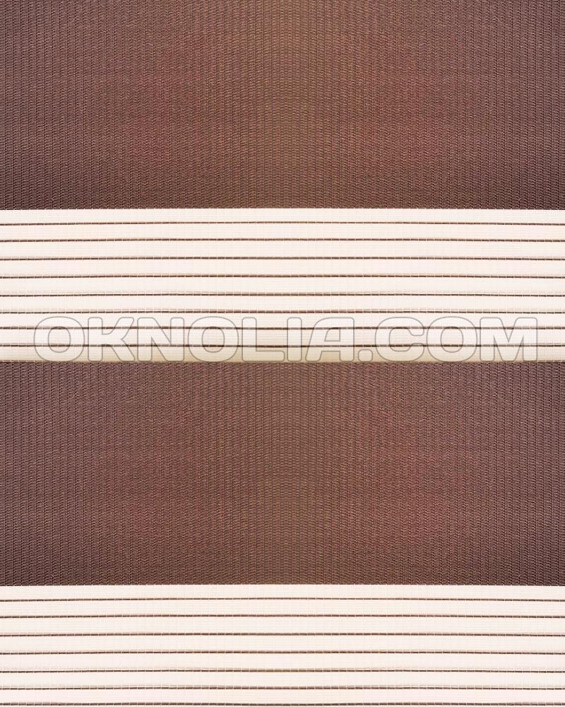 Рулонная штора День Ночь DN 202 коричневая, 100*170 см