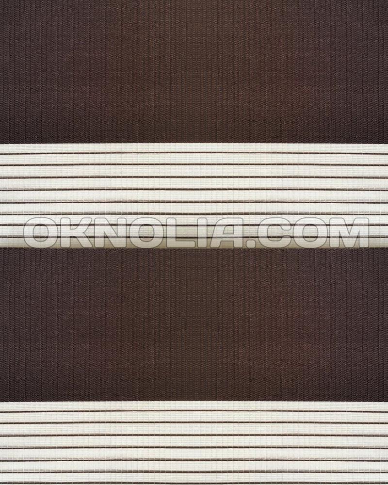 Тканевые роллеты День Ночь DN 203 коричневый, 40*170 см