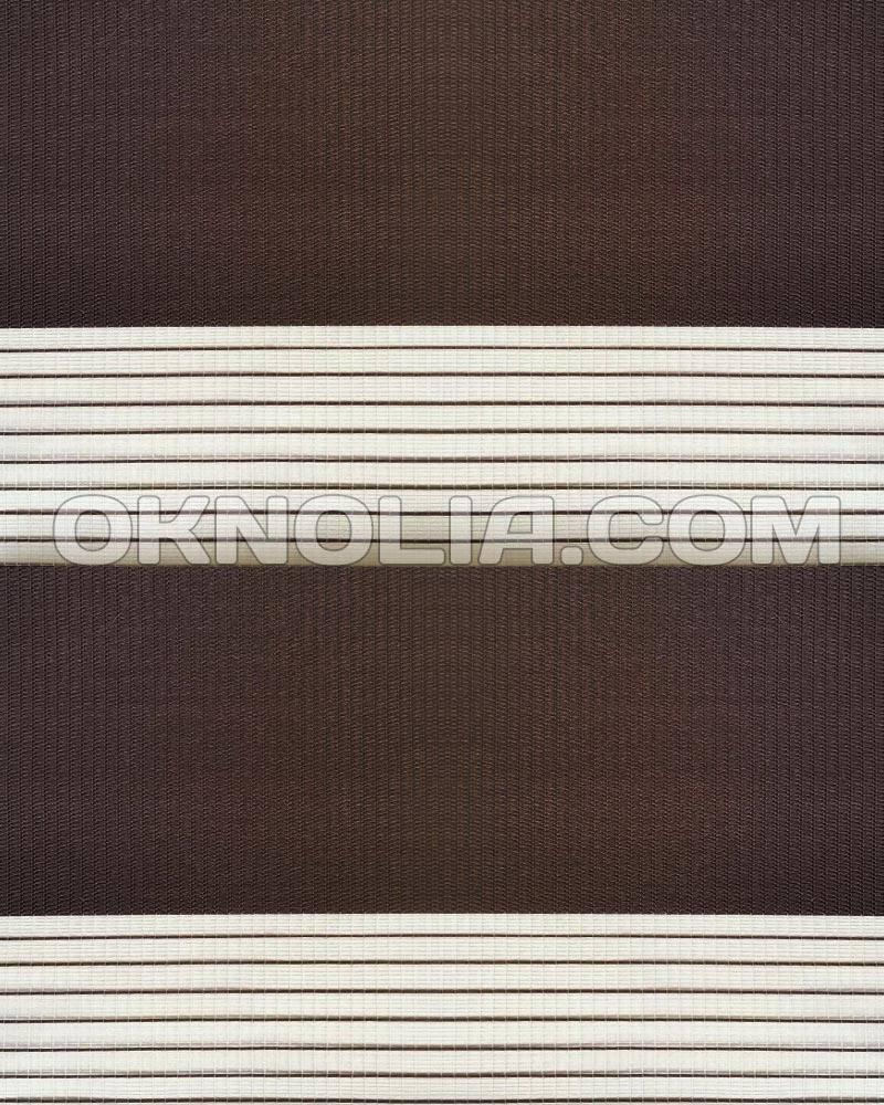 Тканевые роллеты День Ночь DN 203 коричневый, 100*170 см