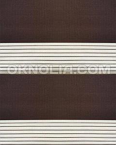 Тканевые роллеты День Ночь DN 203 коричневый, 50*170 см