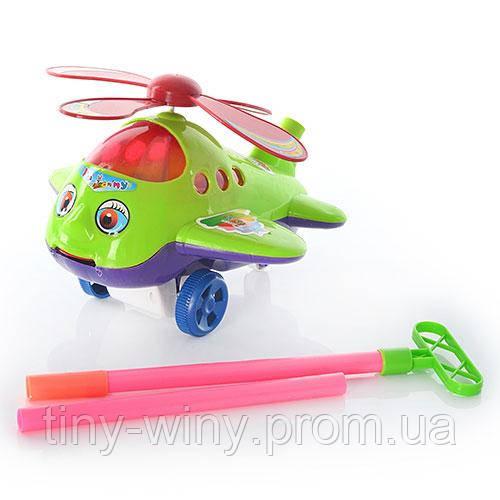 Каталка 1808 (48шт) вертолет, на палке, в кульке, 23-19-14см