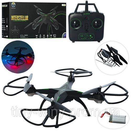 Квадрокоптер YH10 (6шт) р/у2.4G,аккум,25см,запасю.лопасти,USBзарядное,свет, в кор-ке,47,5-23-8см