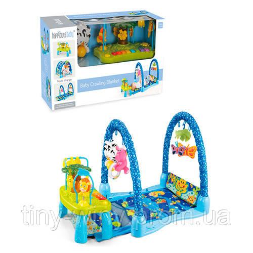 Коврик для младенца JDL555-23 (6шт) 105-35см,игр.столик, дуга,подвес,муз,зв,св, бат,в кор,60-33-23см