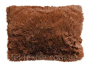 Наволочка с длинным ворсом коричневая (50х70)