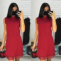 Платье с набивным кружевом 090, фото 1