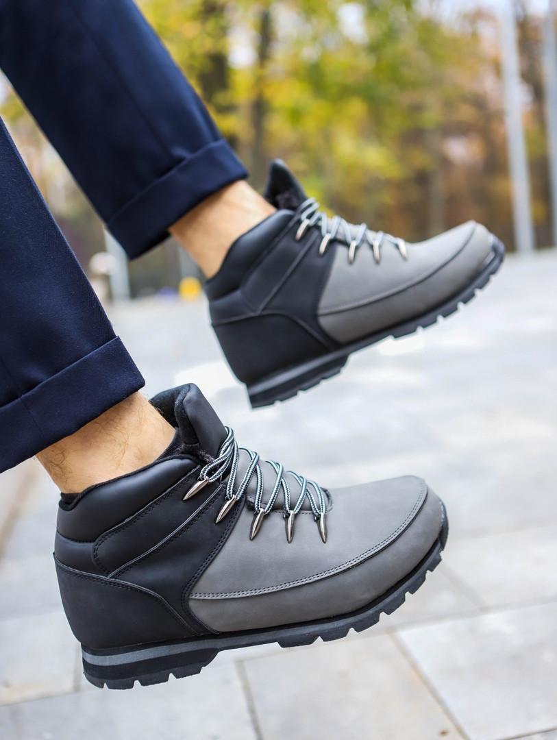 Мужские зимние ботинки (black/gray), зимние ботинки темно-серые