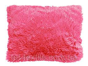 Наволочка с длинным ворсом розовая (50х70)