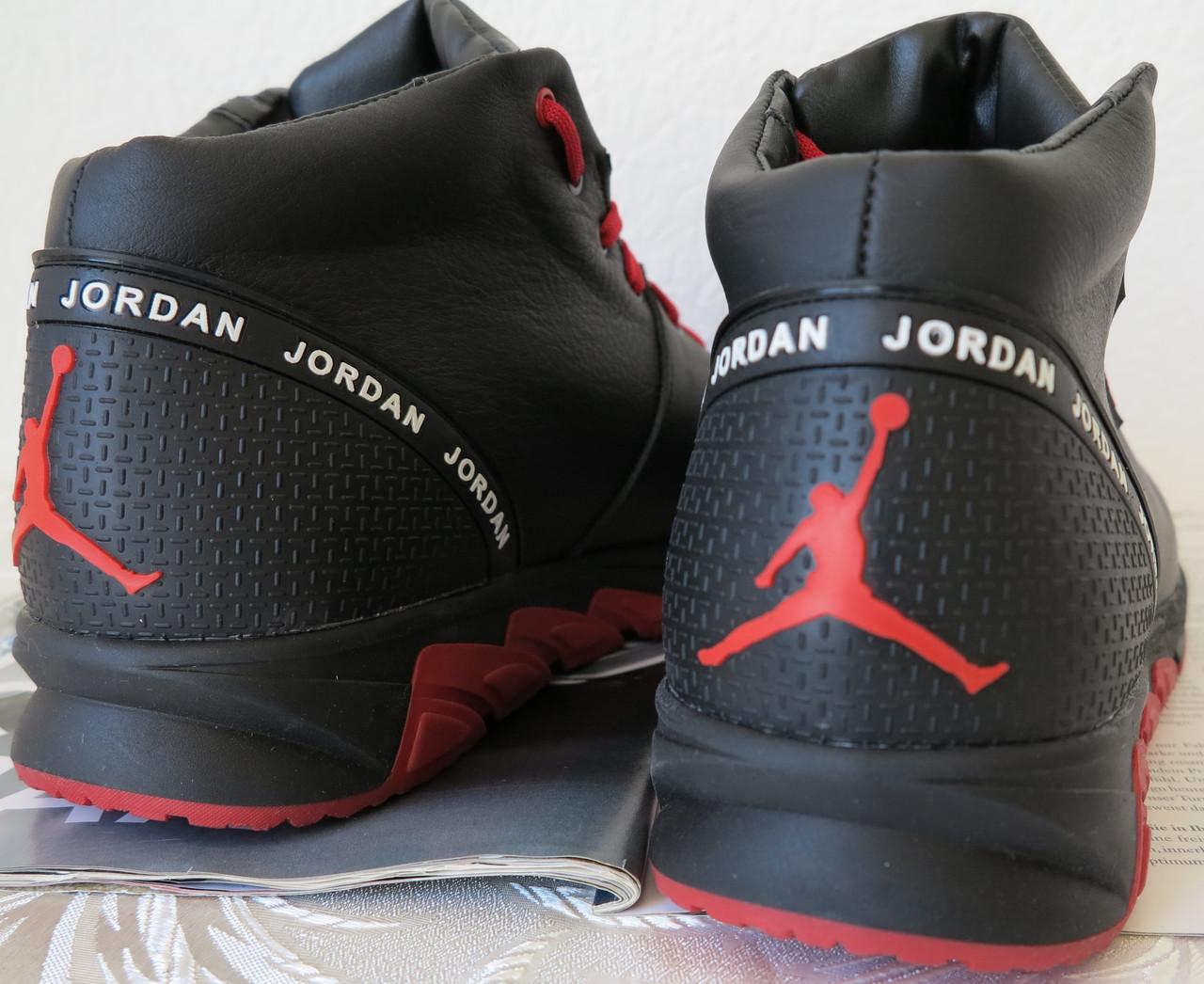 ae0e184a ... фото Jordan RP зимние мужские кроссовки кожа черные с красным  натуральный мех шерсть зима комфорт, ...