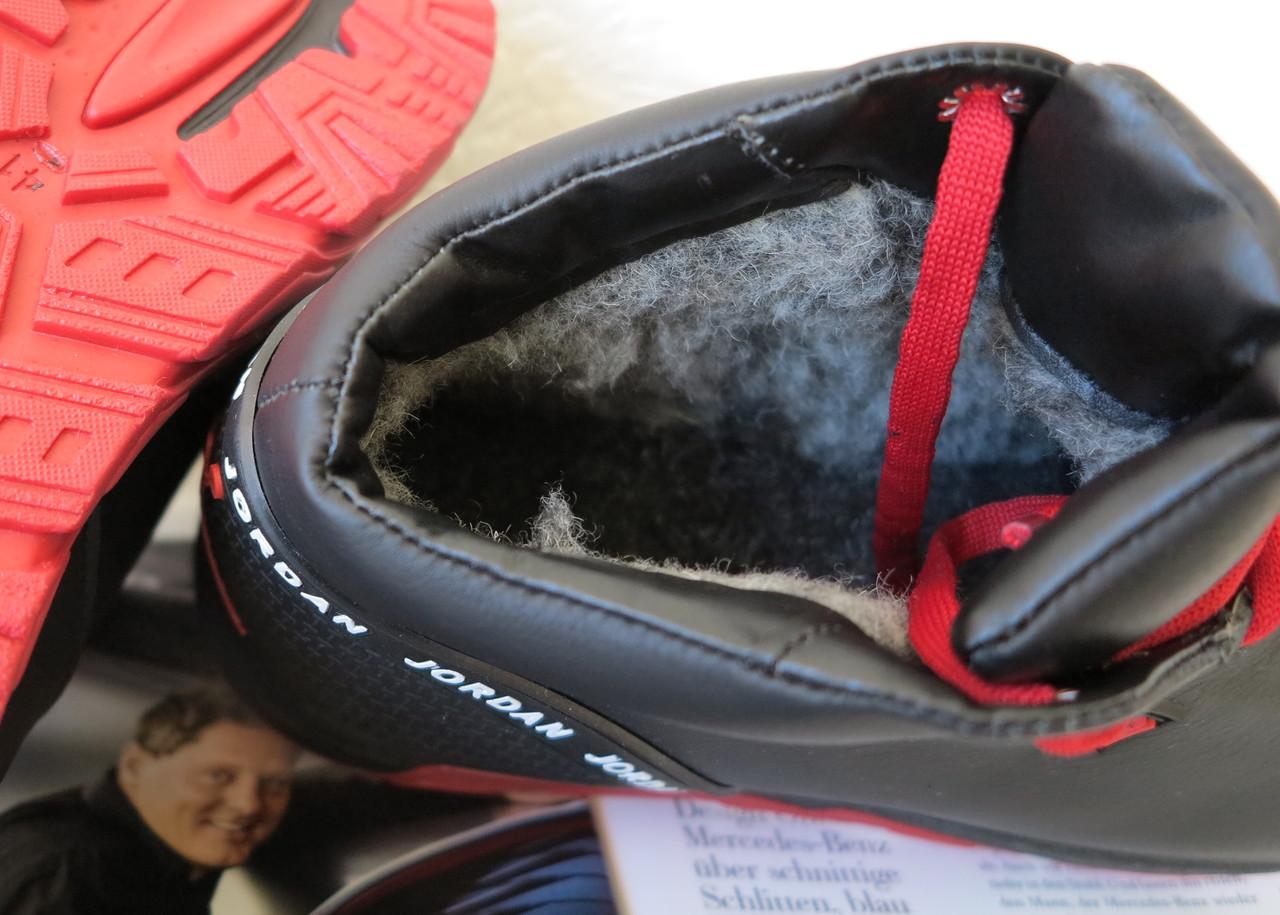 4c5f01fb Jordan RP зимние мужские кроссовки кожа черные с красным натуральный мех  шерсть зима комфорт, цена 1 100 грн., купить в Харькове — Prom.ua  (ID#810177993)