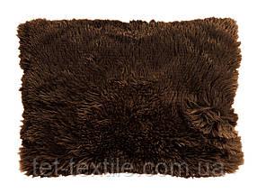 Наволочка с длинным темно-коричневая (50х70)