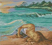 Схема для вышивки бисером Девушка и море