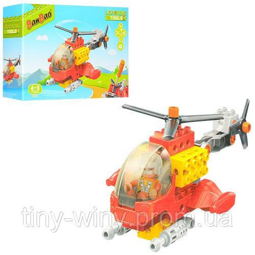 Конструктор BANBAO 9721 (12шт) вертолет, фигурка, отвертка, 17дет, в кор-ке, 28-19-7см