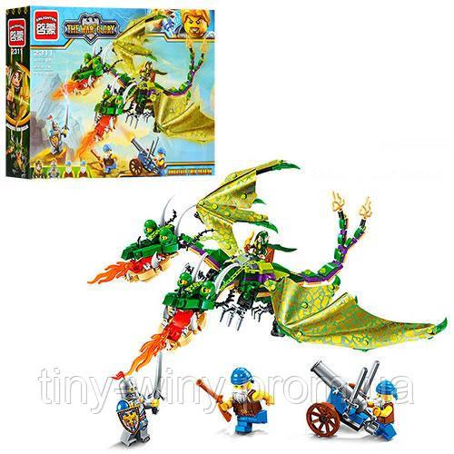 Конструктор BRICK 2311 (24шт) дракон , фигурки, 469дет, в кор-ке, 37-28-6,5см